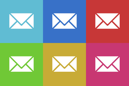 mail vector icons set Vector