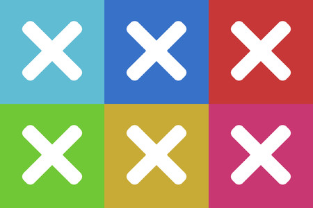 canceled: cancel vector icons set