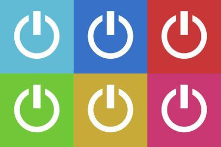 power vector: power vector icons set