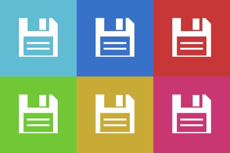floppy: Floppy vector icons set