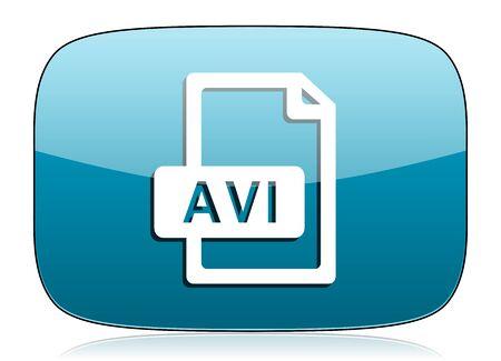 avi: avi file icon Stock Photo