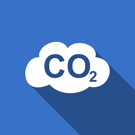 co2: carbon dioxide flat icon co2 sign Stock Photo