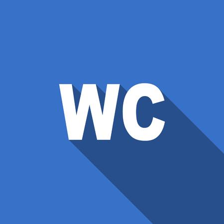 wc: WC Flach Symbol wc Zeichen
