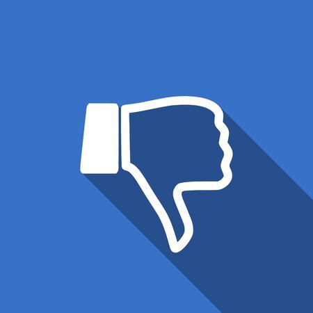 pulgar abajo: no les gusta el icono del pulgar hacia abajo signo plana