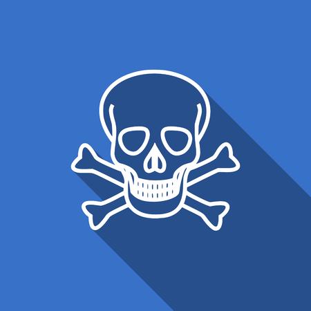 pirating: skull flat icon death sign Stock Photo