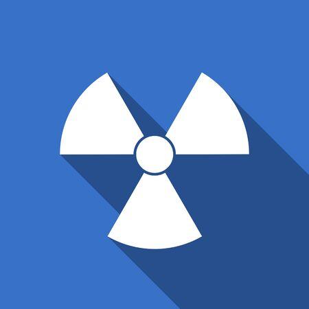 radiacion: la radiaci�n del icono plana signo �tomo Foto de archivo