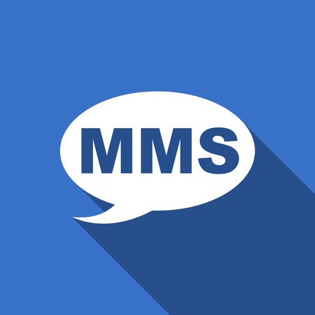 mms: mms flat icon message sign Stock Photo