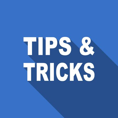tricks: tips tricks flat icon Stock Photo
