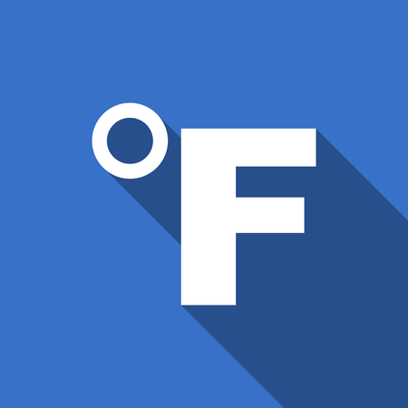 celcius: fahrenheit flat icon temperature unit sign