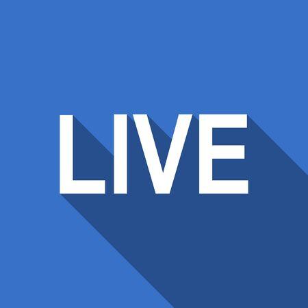 news cast: live flat icon