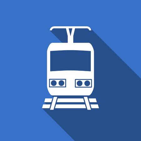 train flat icon public transport sign photo