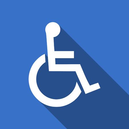 wheelchair flat icon photo