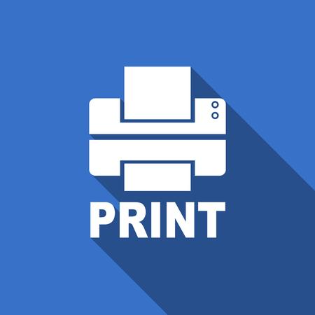 printer flat icon print sign photo