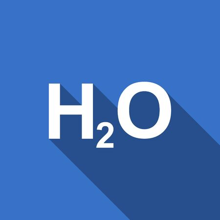 h2o: water flat icon h2o sign Stock Photo