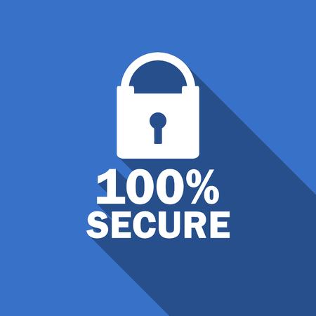 trusty: secure flat icon