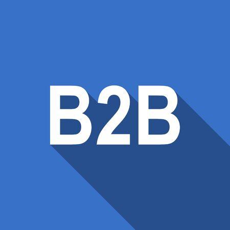 b2b: icono plana b2b