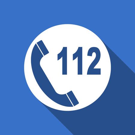 emergency call: emergency call flat icon 112 call sign