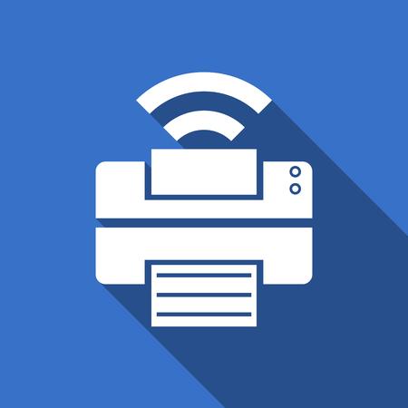 printer flat icon wireless print sign photo