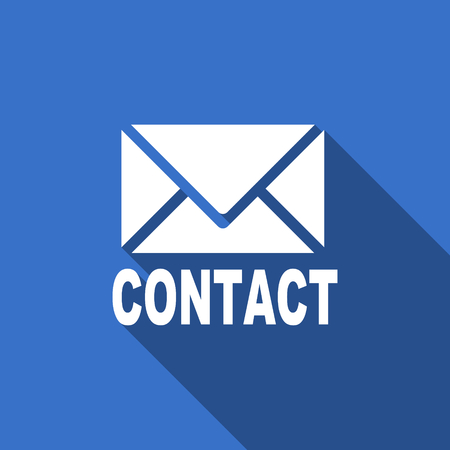 secretariat: email flat icon contact sign