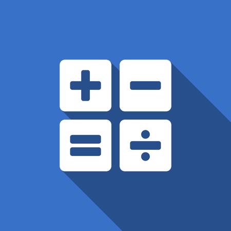 calc: calculator flat icon calc sign