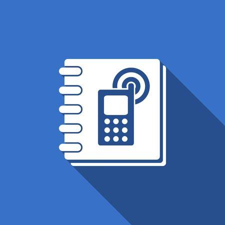 phonebook flat icon
