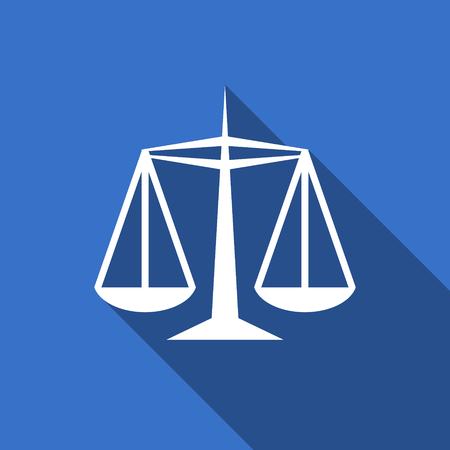 injustice: justice flat icon law sign Stock Photo