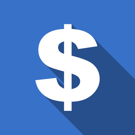 us dollar: dollar flat icon us dollar sign