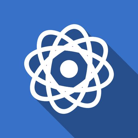 atom flat icon photo