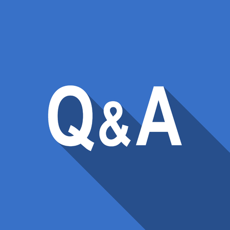 answer: question answer flat icon Stock Photo