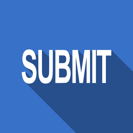 submit: submit flat icon Stock Photo