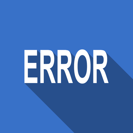 error flat icon photo
