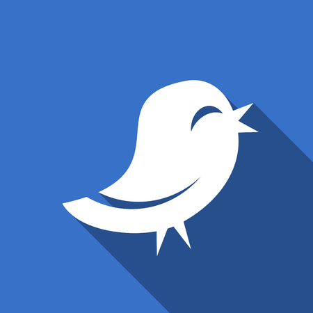 twitter: twitter flat icon Stock Photo