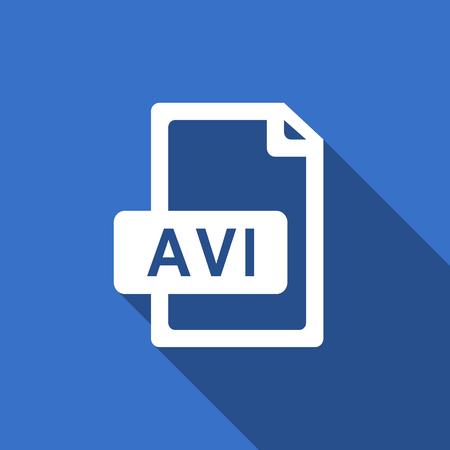 avi: avi file flat icon
