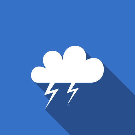 pushbuttons: storm flat icon waether forecast sign