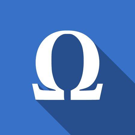omega: omega flat icon