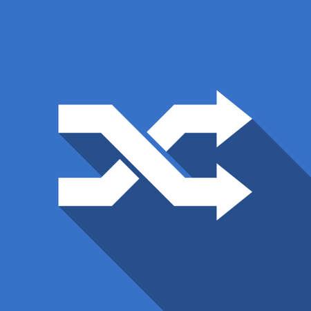 pushbuttons: aleatory flat icon