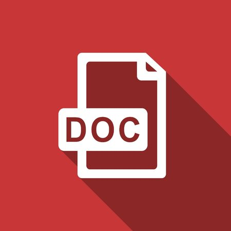 bibliography: doc file flat design modern icon with long shadow for web and mobile app Stock Photo
