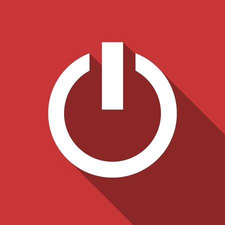 run off: power flat design modern icon with long shadow for web and mobile app