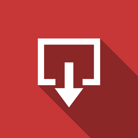 exit flat design modern icon with long shadow for web and mobile app photo