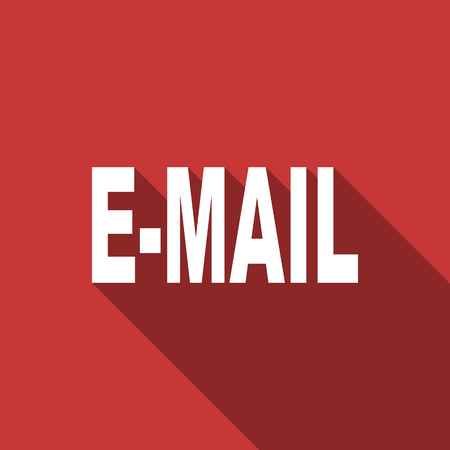 secretariat: email flat design modern icon with long shadow for web and mobile app