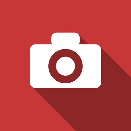 camera flat design modern icon with long shadow for web and mobile app photo