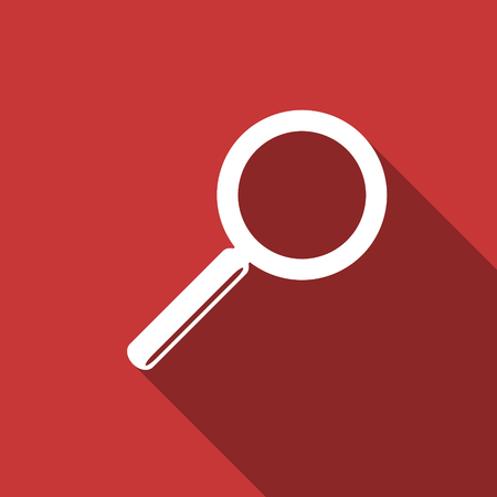 search button: search flat design modern icon with long shadow for web and mobile app Stock Photo