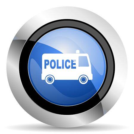 patrolman: police icon Stock Photo