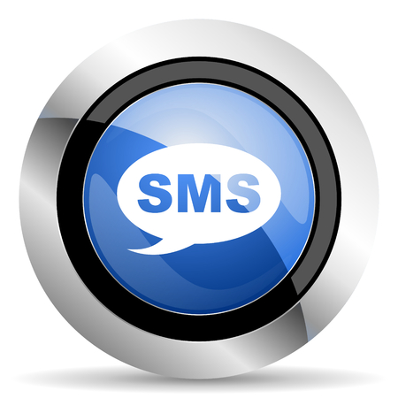 sms: sms icon message sign Stock Photo