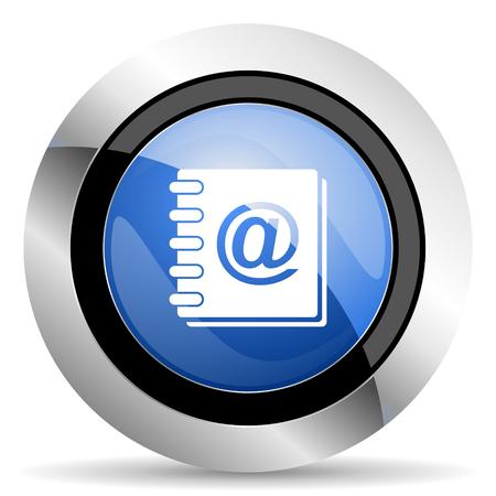 address book: address book icon Stock Photo