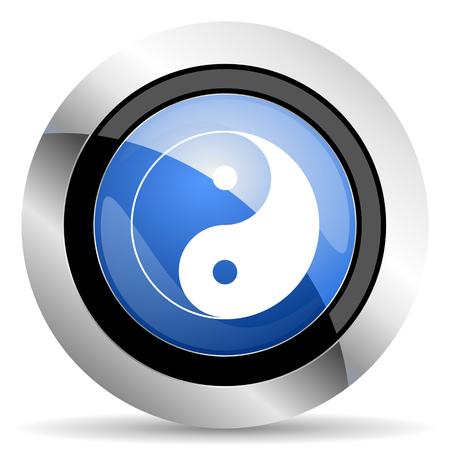 yang: ying yang icon Stock Photo