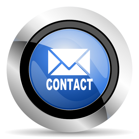 newsletter: email icon contact sign Stock Photo