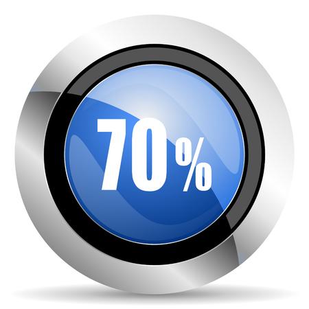 70: 70 percent icon sale sign Stock Photo