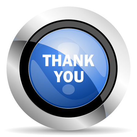 pushbuttons: thank you icon Stock Photo