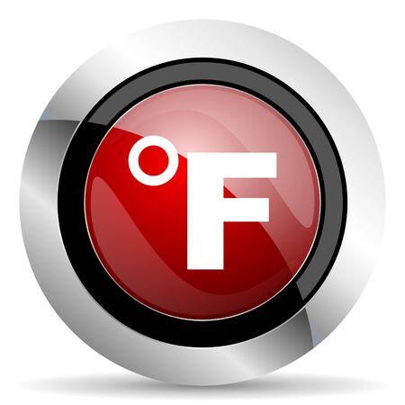celcius: fahrenheit red glossy web icon